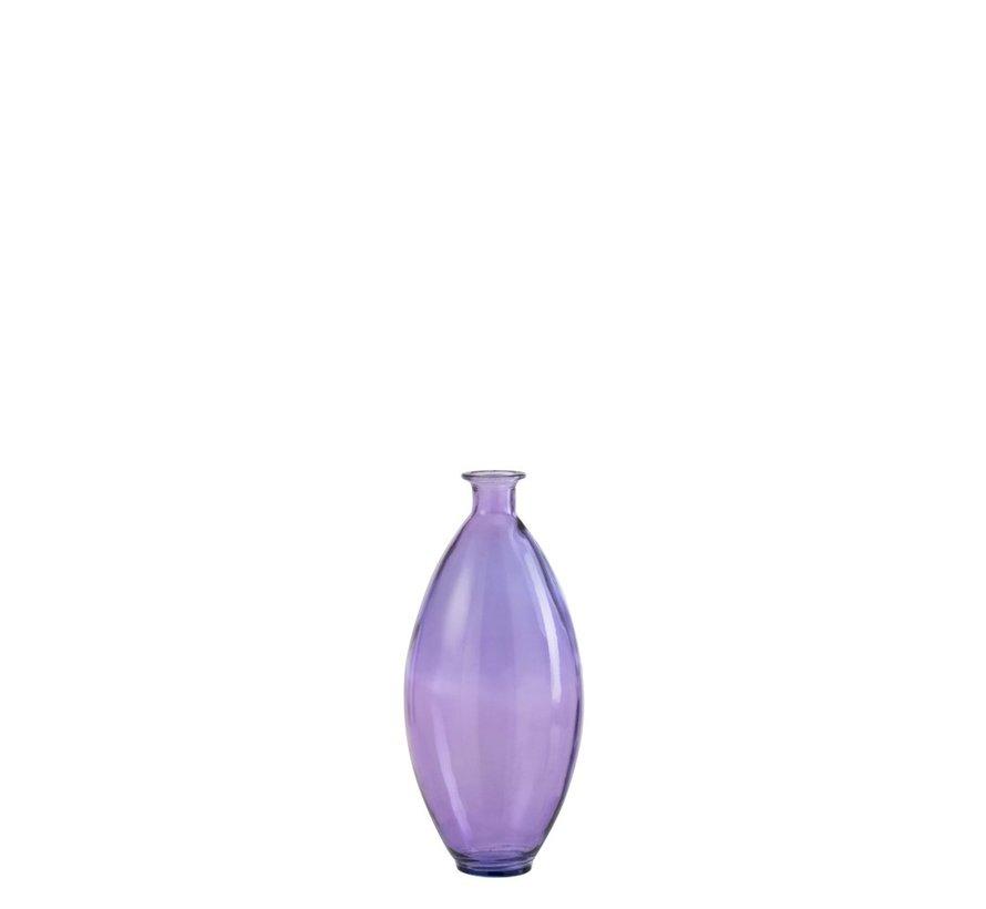 Flessen Vaas Smal Glas Zomers Lichtpaars - Medium