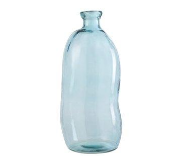 J -Line Bottles Vase Tall Glass Natural Blown Light Blue - Large