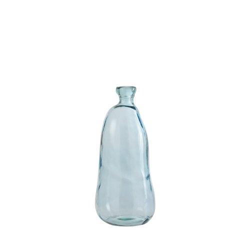 J -Line Flessen Vaas Hoog Glas Natuurlijk Geblazen Lichtlauw - Small