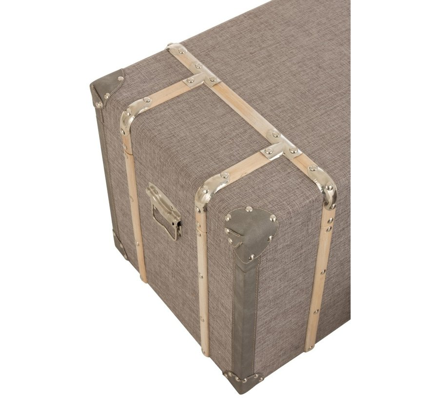 Storage Cases Rectangle Wood Clasps - Gray