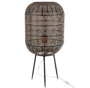 J-Line Table Lamp On Foot Oriental Patterns Metal - Black