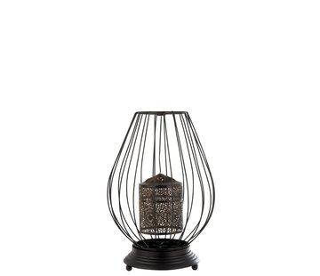 J -Line Tealight holder Oriental Table Metal - Black