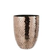 J -Line Vase High Glass Mosaic Triangles - Rose Gold
