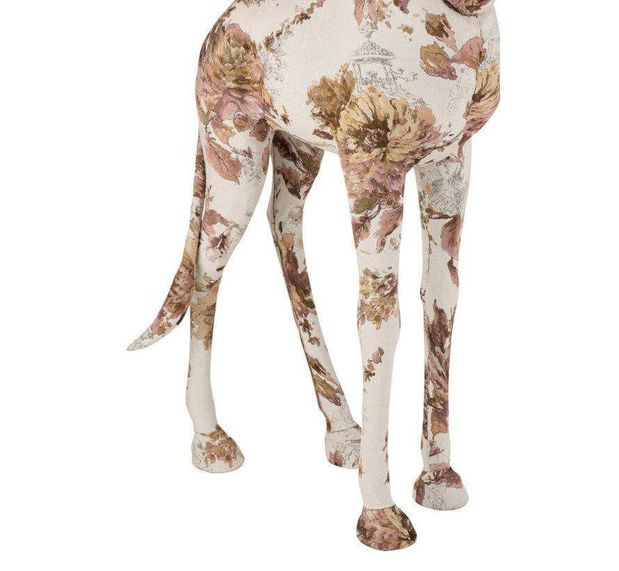 Decoration Giraffe Polyester Linen Pink - Light Blue