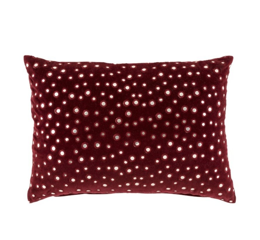 Cushion Rectangle Cotton Mirrors Red - Silver