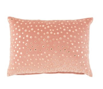 J-Line  Cushion Rectangle Cotton Mirrors Pink - Silver