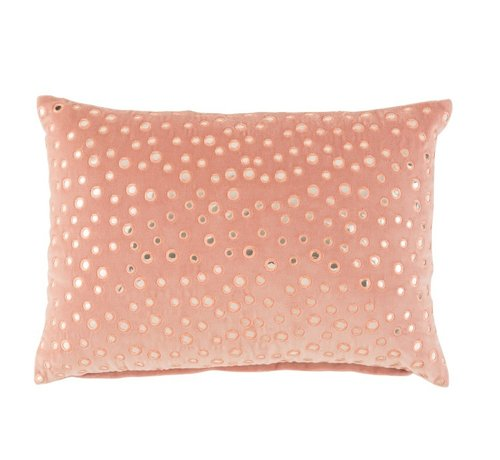 J -Line Cushion Rectangle Cotton Mirrors Pink - Silver