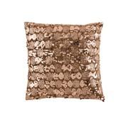 J -Line Cushion Square Velvet Sequins Brown - Bronze