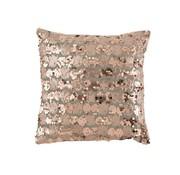 J-Line  Cushion Square Velvet Sequins Gray - Pink