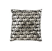 J -Line Cushion Square Velvet Sequins Black - Silver