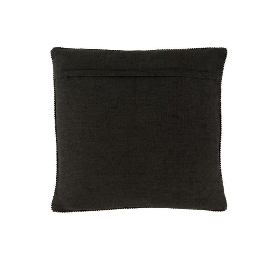 Cushion Square Cotton Mirror Rectangle Black - Silver