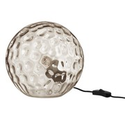 J -Line Table lamp Sphere Wavy Glass Light Gray - Large