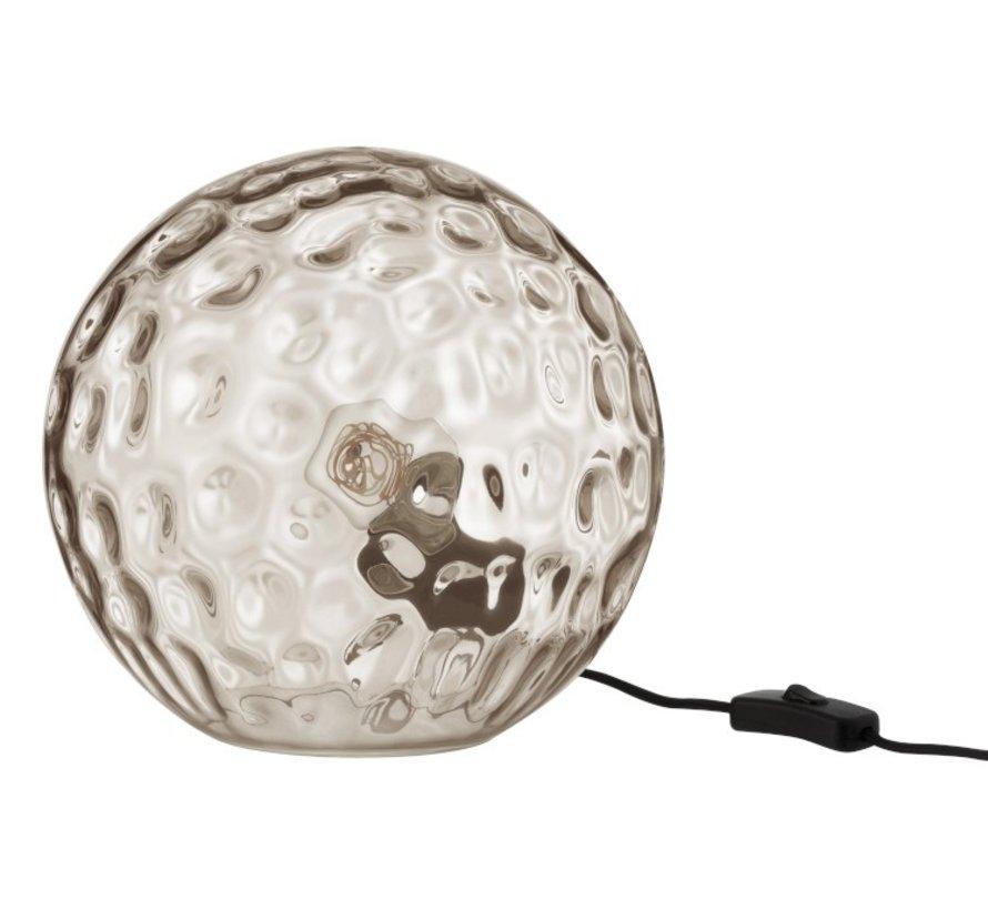 Tafellamp Bol Golvend Glas Lichtgrijs - Large