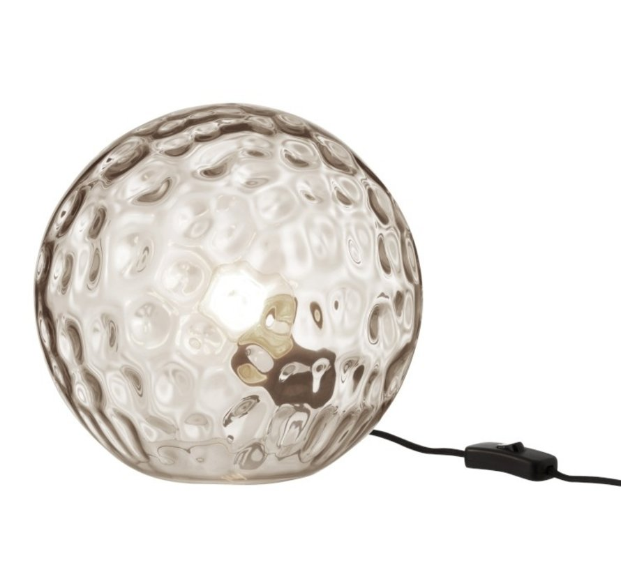 Table lamp Sphere Wavy Glass Light Gray - Large