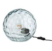 J-Line  Table lamp Sphere Wavy Glass Light Blue - Large