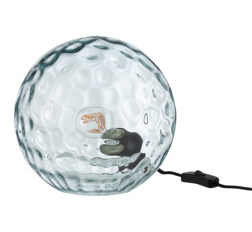 J -Line Table lamp Sphere Wavy Glass Light Blue - Large
