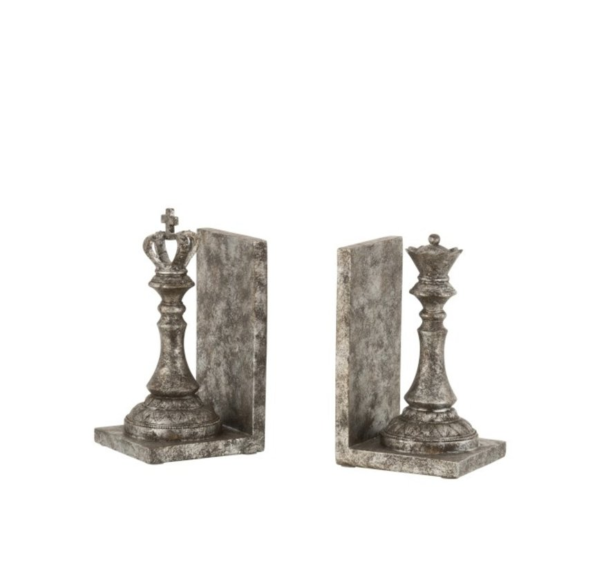 Decorative Bookends Chess Pieces Poly - Dark Gray