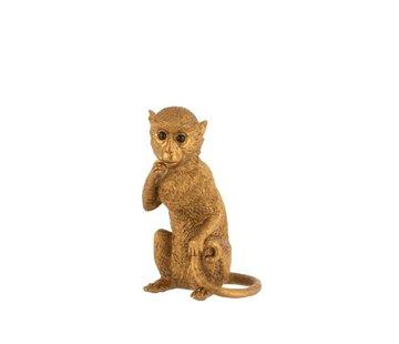 J -Line Decoration Figure Sitting Monkey Poly Gold - Large