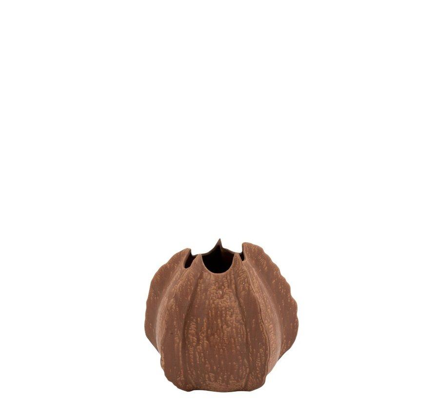 Vaas Keramiek Natuurlijke Randen Bruin - Medium