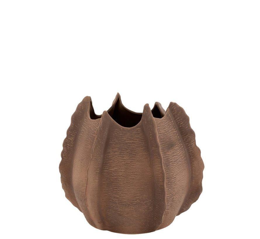 Vaas Keramiek Natuurlijke Randen Bruin - Large