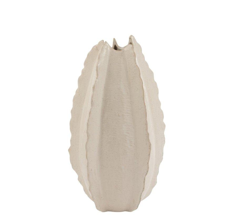 Vaas Hoog Keramiek Natuurlijke Randen Wit - Large