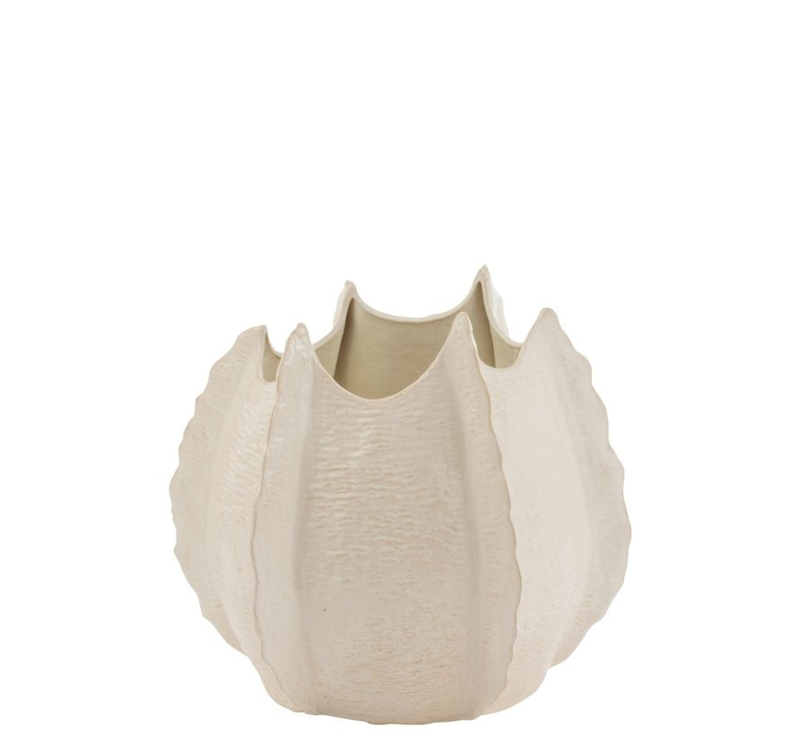 Vaas Keramiek Natuurlijke Randen Wit - Large