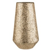 J -Line Theelichthouder Conisch Gebroken Glas Goud - Extra Large
