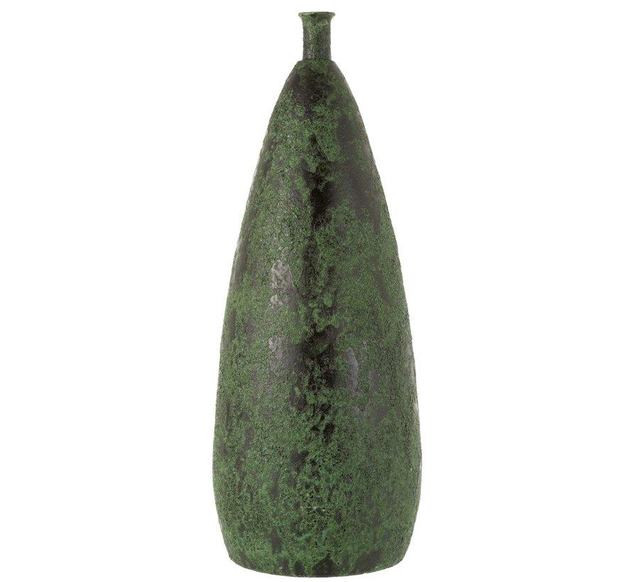 Bottles Vase Ceramic Coarse Army Green - Large