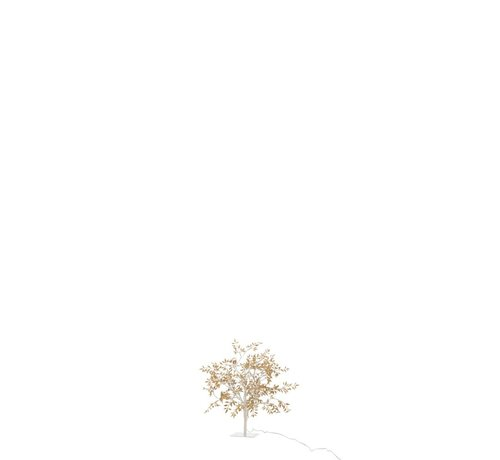J -Line Table lamp Tree Leaves Glitters Led Gold - Small