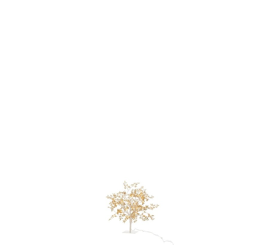 Table lamp Tree Leaves Glitters Led Gold - Small