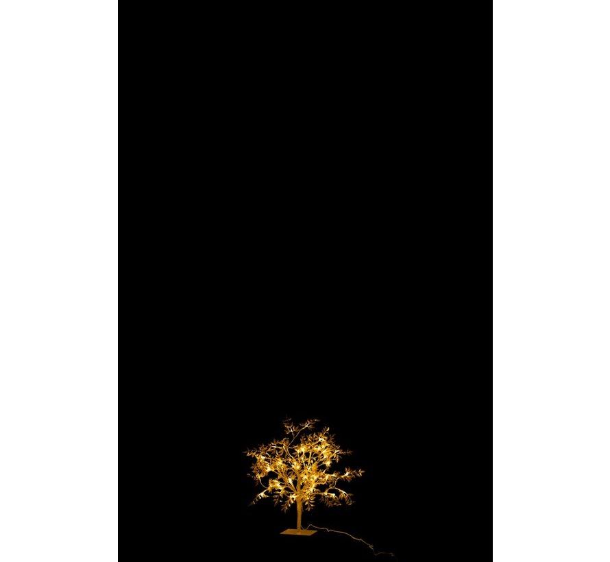 Tafellamp Boom Bladeren Glitters Led Goud - Small