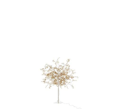 J-Line Table lamp Tree Leaves Glitters Led Gold - Medium