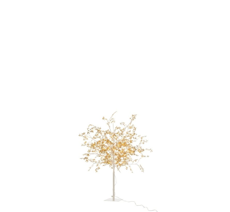 Tafellamp Boom Bladeren Glitters Led Goud - Medium