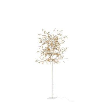 J -Line Standing Lamp Tree Leaves Glitters Led Gold - Large