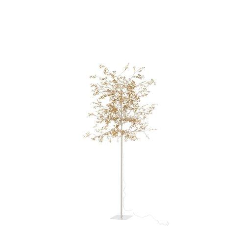 J -Line Staande Lamp Boom Bladeren Glitters Led Goud - Large