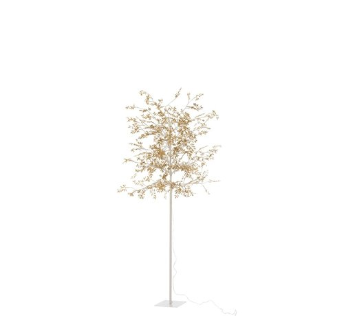 J -Line Standing Lamp Tree Leaves Glitters Led Gold - Large