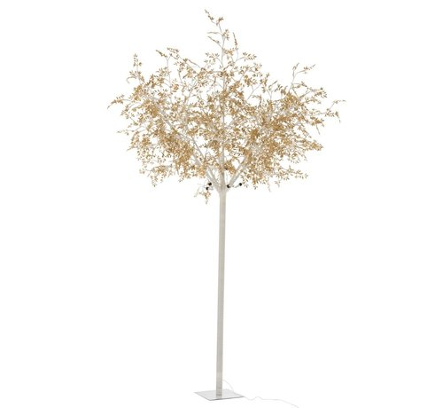 J -Line Standing Lamp Tree Leaves Glitters Led Gold - Extra Large