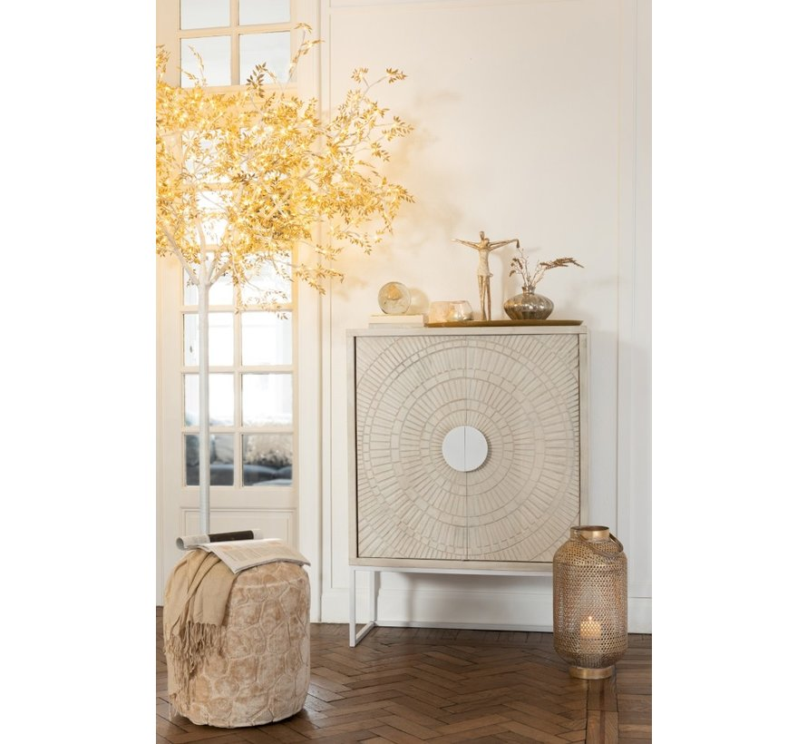 Standing Lamp Tree Leaves Glitters Led Gold - Extra Large