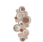 J-Line  Wanddecoratie Oneffen Cirkels Metaal Roze - Grijs