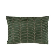 J -Line Cushion Rectangle Fine Patterns Green - Purple