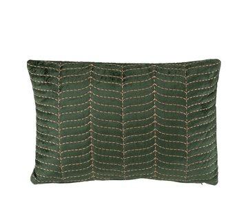 J -Line Cushion Rectangle Fine Patterns Green - Purple