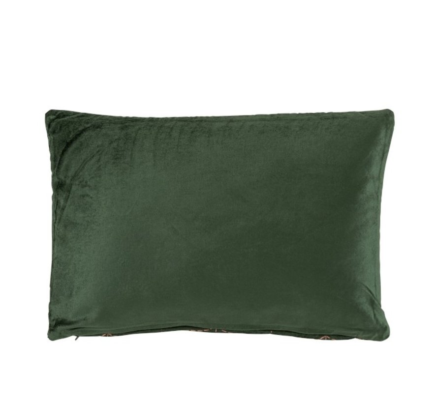 Cushion Rectangle Fine Patterns Green - Purple