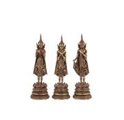 J -Line Decoratie Boeddha's Staand Polyester - Roestbruin