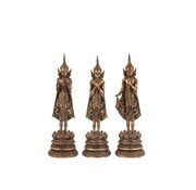 J-Line Decoration Buddha's Standing Polyester - Rust brown