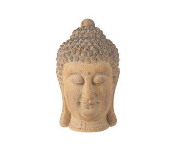 J -Line Decoration Buddha Head Poly Beige Gold - Large