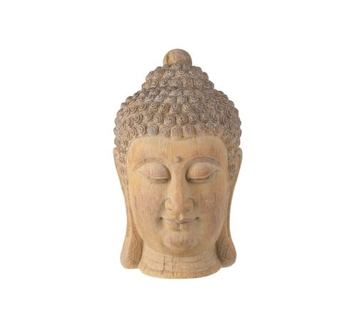 J -Line Decoration Buddha Head Poly Beige Gold - Large
