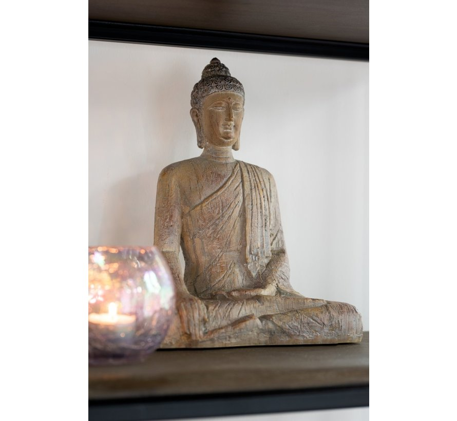 Decoration Buddha Sitting Poly Beige Gold - Large