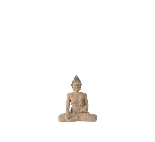 J -Line Decoratie Boeddha Zittend Poly Beige Goud - Small