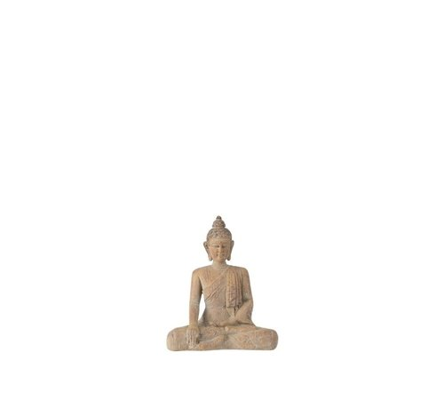 J -Line Decoration Buddha Sitting Poly Beige Gold - Small