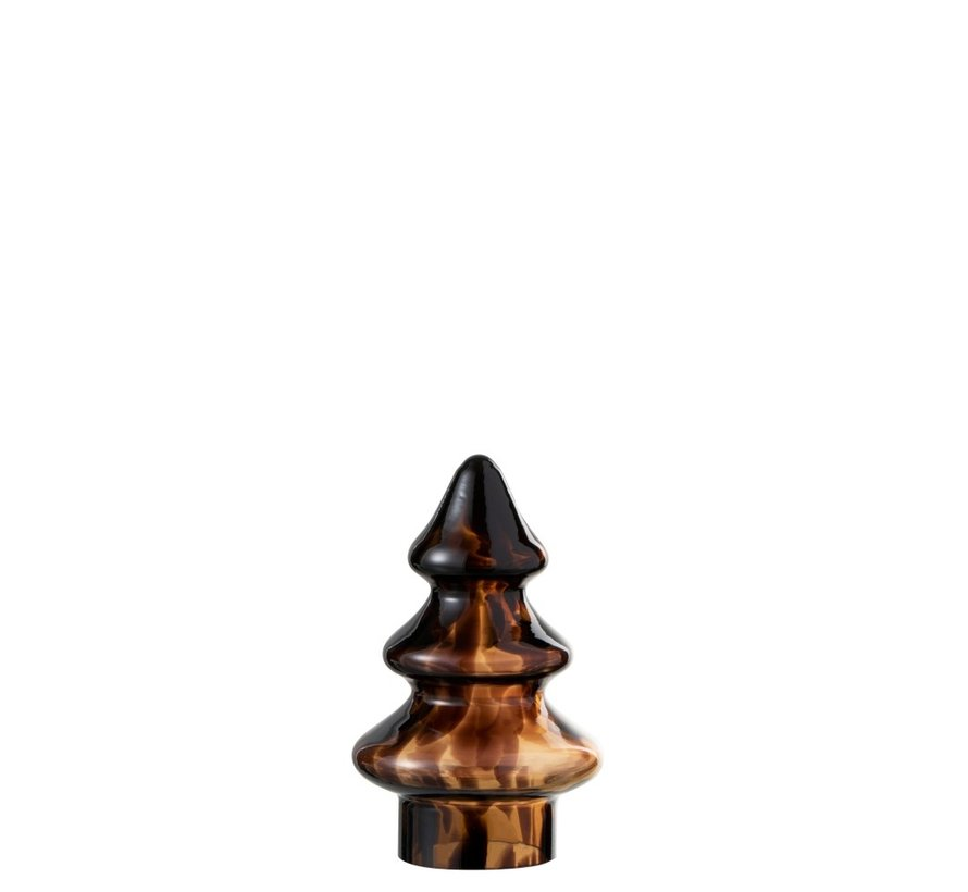 Decoration Tree Glass Flamed Brown Black - Small